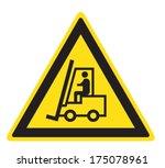 attention lift truck   Shutterstock .eps vector #175078961