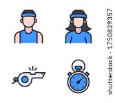 running icon set  filled line   ...