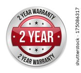 red metallic two year warranty... | Shutterstock .eps vector #175086317