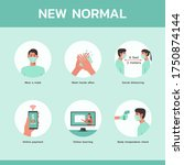 infographic new normal concept  ... | Shutterstock .eps vector #1750874144