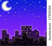 a city in the night | Shutterstock . vector #17509204
