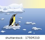 global warming victims  penguins | Shutterstock . vector #17509210