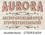 vintage alphabet font  typeface ...   Shutterstock .eps vector #1750931654
