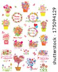 collection of greetings | Shutterstock .eps vector #175094129