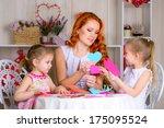 happy valentines day  girls... | Shutterstock . vector #175095524