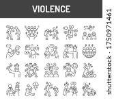 violence black line icons set.... | Shutterstock .eps vector #1750971461