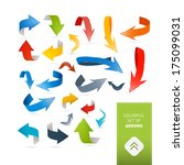 colorful abstract arrows set  ... | Shutterstock . vector #175099031