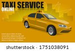 taxi banner on a yellow...   Shutterstock .eps vector #1751038091