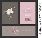 wedding invitation design.... | Shutterstock .eps vector #1751041631