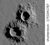 3d Rendering. A Meteorite...