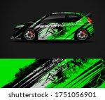 sport car wrap design and... | Shutterstock .eps vector #1751056901