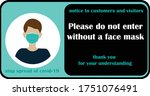 wear face mask sign and symbol. ... | Shutterstock .eps vector #1751076491