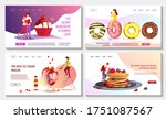 set of web pages with ice cream ... | Shutterstock .eps vector #1751087567