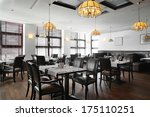 modern european restaurant with ... | Shutterstock . vector #175110251