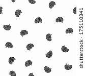 seamless pattern  brain | Shutterstock . vector #175110341