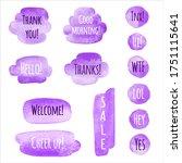 lilac  lavender  violet... | Shutterstock .eps vector #1751115641