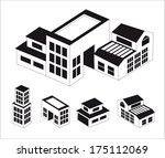 buildings set. | Shutterstock .eps vector #175112069