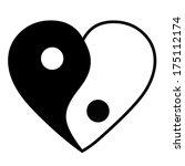 yin yang heart | Shutterstock .eps vector #175112174