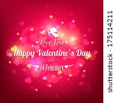 happy valentine's day  holiday... | Shutterstock . vector #175114211
