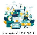 vector graphic elements.... | Shutterstock .eps vector #1751158814