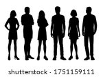 set of vector silhouettes of ... | Shutterstock .eps vector #1751159111