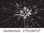 broken glass  cracks  bullet... | Shutterstock .eps vector #1751164727
