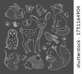Woodland Animal Clipart Set....