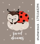 poster sweet dreams with... | Shutterstock .eps vector #1751165294
