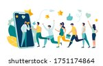 vector illustration  referral... | Shutterstock .eps vector #1751174864