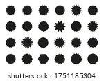 set of star burst stickers. ... | Shutterstock . vector #1751185304