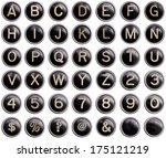 Vintage Typewriter Keys With...