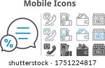 mobile icon set included wallet ...