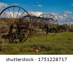 Antique Hay Rake With A Wester...