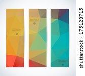 abstract vector vertical banner | Shutterstock .eps vector #175123715