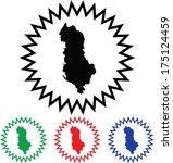 Albania Icon Illustration With...