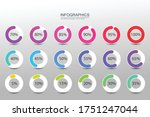 collection of circle percentage ... | Shutterstock .eps vector #1751247044