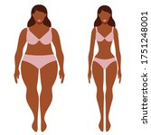 fat and thin afro american...   Shutterstock .eps vector #1751248001