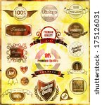 set of retro vintage labels ... | Shutterstock .eps vector #175126031