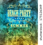 elements for summer holidays... | Shutterstock .eps vector #175126349