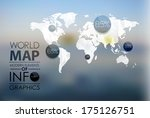 polygonal world map and... | Shutterstock .eps vector #175126751