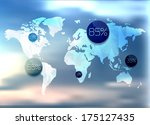 polygonal world map and... | Shutterstock .eps vector #175127435