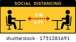keep a social distance in... | Shutterstock .eps vector #1751281691