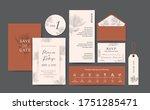 set of wedding card template... | Shutterstock .eps vector #1751285471