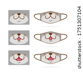 Face Mask Design Set With Cute...