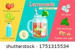 recipe for fresh handmade... | Shutterstock .eps vector #1751315534