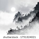 Beautiful Mountain Forest At...