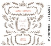 set of nature elements. hand... | Shutterstock .eps vector #175132817