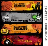 halloween banners.  to see...   Shutterstock .eps vector #17513467