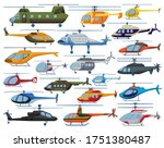 Helicopter Vector Cartoon Set...
