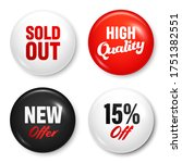 realistic badges with text.... | Shutterstock .eps vector #1751382551